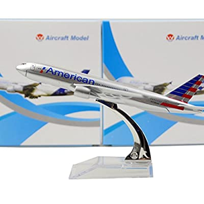 HANGHANG New American Airlines Boeing 777 16cm Metal Airplane Models Child Birthday Gift Plane Models Home Decoration