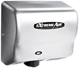 American Dryer ExtremeAir GXT9-SS Stainless Steel Cover High-Speed Automatic Hand Dryer, 10-12 Second Dries, 100-240V, 1,500W Maximum Power, 50/60Hz