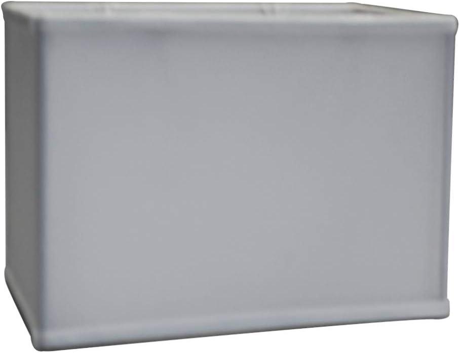 Rectangular Drum Lampshade 6.5×12 6.5×12 x 9 Softback White Linen