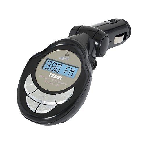 Naxa NA-3029 MP3/WMA FM Modulator/Transmitter with LCD Screen, USB & SD Inputs
