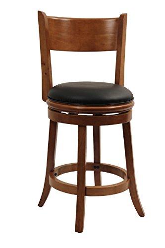 Boraam 45124 Palmetto Counter Height Swivel Stool, 24-Inch, Fruitwood by Boraam