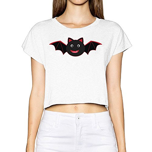 Cute Evil Best Bat Crop Top Shirt Women's Printed Commemorative Edition Top Tee Outfits (Man Towable)