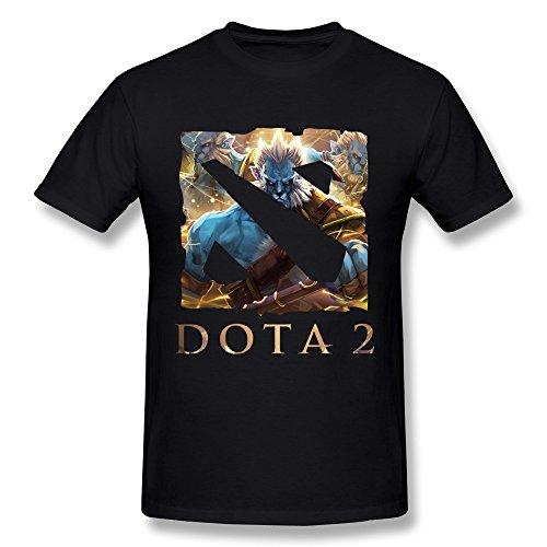 WXTEE Men's Dota 2 Game World League 2015 T Shirt Size L Black