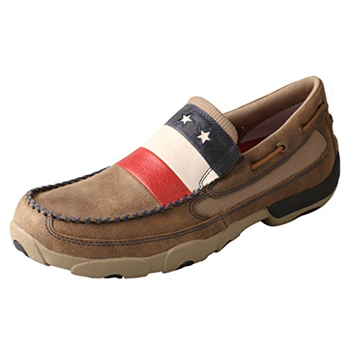 Twisted X Mens Vfw Stelle E Strisce Guida Mocs - Mdms006 Bombardiere