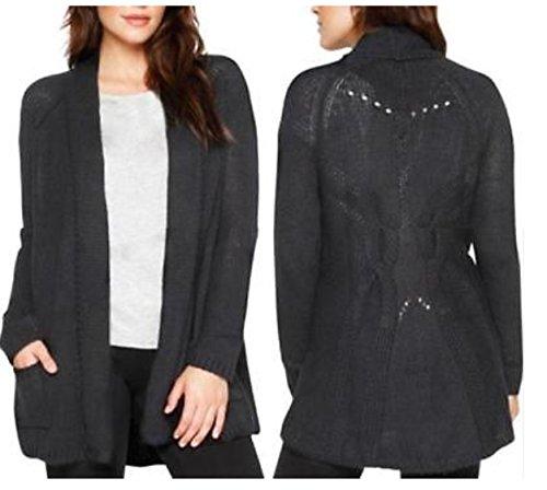 4c2dcaad72 Matty M Women s Wool Blend Crochet Open Front Cardigan Sweater (X-Small