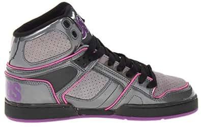 Osiris Women's NYC 83 SLM Skate Shoe (7, Charcoal/Grey/Purple)