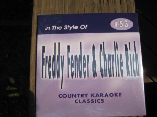 FREDDY FENDER + CHARLIE RICH Country Karaoke Classics CDG...