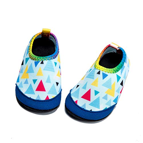 Price comparison product image Panda Software Baby Boys Girls Water Shoes Infant Barefoot Quick -Dry Anti- Slip Aqua Sock for Beach Swim Pool Triangle / 0-6 Months M US Infant