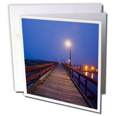 Danita Delimont - Harbors - British Columbia, Hornby Island, Boat harbor dock-CN02 PSO0025 - Paul Souders - 12 Greeting Cards with envelopes (gc_72523_2)