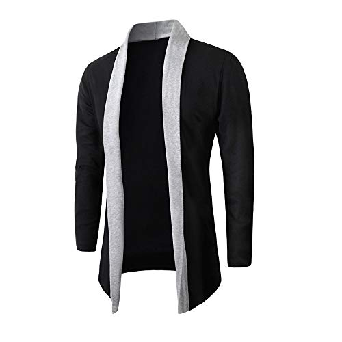 Forthery Winter Clearance Men's Trench Coat Winter Long Jacket Overcoat Cardigan