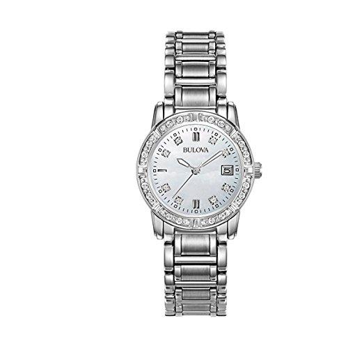 Bulova 96R105 Ladies Diamonds Steel ()