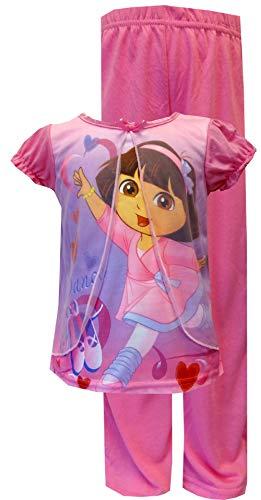 WebUndies Nickelodeon Dancing Dora Pink Toddler Pajama For Little Girls 21DE349SLKPZA 2T