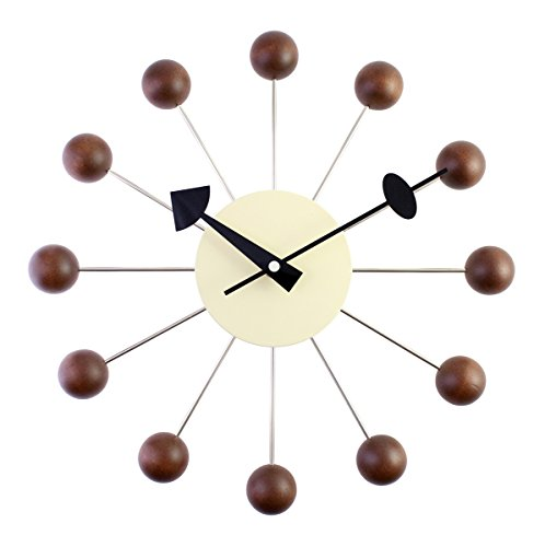 Art Wall Clock (A.Cerco Designer Wooden and Metal Analog Movement Wall Clock | 12.9