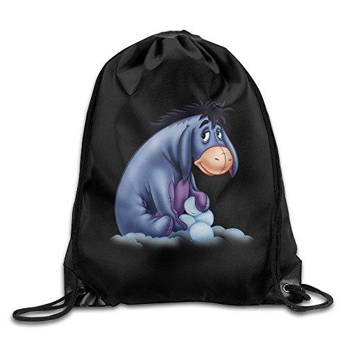 Gtaiquxin ACMIRAN Eeyore Unisex Drawstring Gym Sack Sport Bag