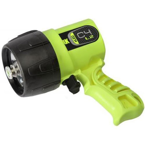 Kinetics Yellow Underwater Flashlight - Underwater Kinetics C4 eLED (L2) Dive Light, Safety Yellow