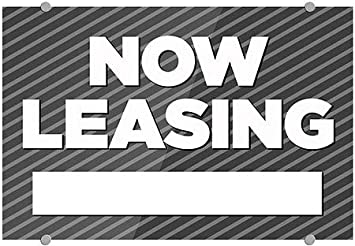 CGSignLab Stripes Gray Premium Brushed Aluminum Sign 18x12 Now Leasing 5-Pack