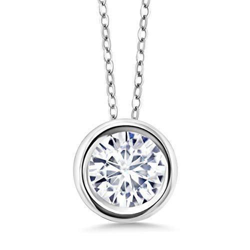 Charles & Colvard Forever Classic 0.80cttw DEW Moissanite 925 Sterling Silver ()