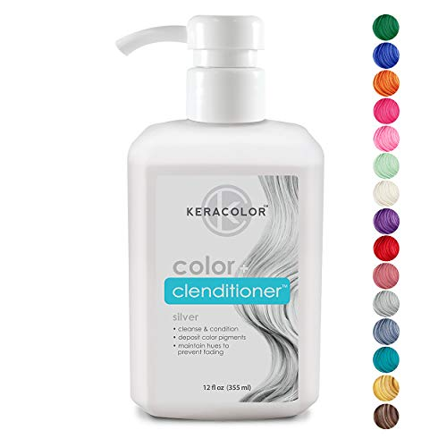 Keracolor Clenditioner Color Depositing Conditioner Colorwash, Silver, 12 fl. oz. -