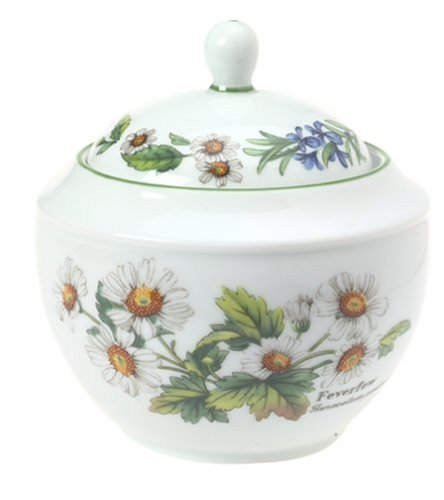 Royal Worcester Herbs Porcelain 1-Cup Sugar Bowl and ()