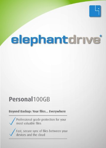 ElephantDrive for Windows (64 bit) - 100 GB Personal Edition for 1 Year [Download] by ElephantDrive