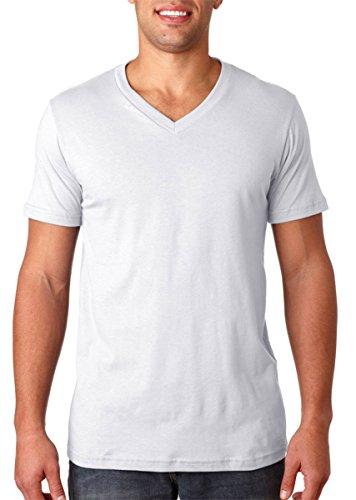 (Canvas for Men's Delancey V-Neck T-Shirt, WHITE, Large)