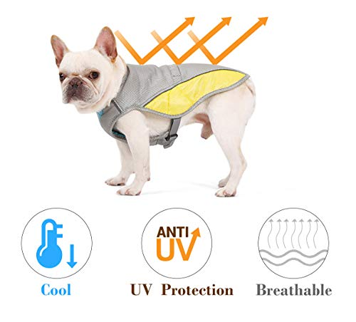 """Rantow Dog Cooling Vest Harness Outdoor Puppy Cooler Jacket Reflective Safety Sun-proof Pet Hunting Coat, Best for Small Medium Large Dogs (XS(Chest 14.17""""-17.33"""")) 1"""