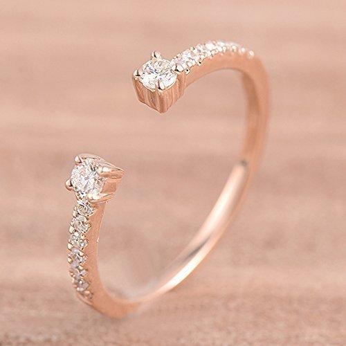 Open Cuff Diamond Wedding Band Rose Gold by PCY