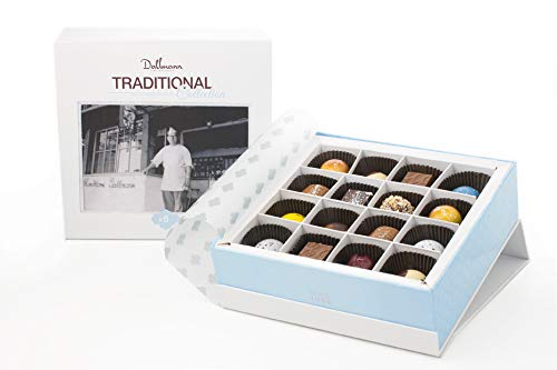 Dallmann Confections Traditional Chocolate Gift Basket | 16 Pieces Elegant Traditional Chocolate Gift Box for Christmas Holidays, Birthdays, Weddings,Thanksgiving, Halloween or Get Well soon Gifts by Dallmann Confections