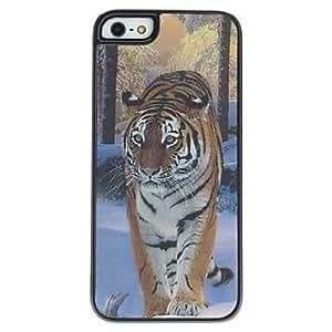 TY-Estuche rígido del efecto 3d león patrón para el iphone 5/5s