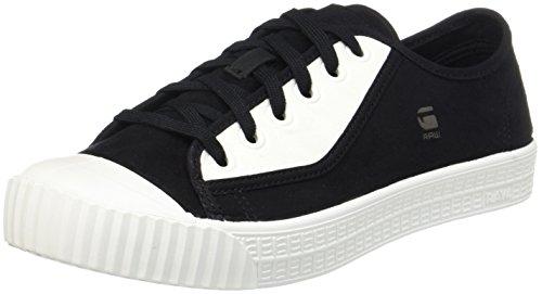 G-STAR RAW Herren Rovulc Suede Low Sneaker Mehrfarbig (Black/Milk)