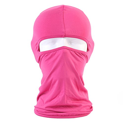 BCOCOB Ski Mask Balaclava - Windproof Mask Adjustable Face Headwear Warmer For Skiing,Bike,Cycling,Hiking,Protection Motorcycle Outdoor Sports (Pink)