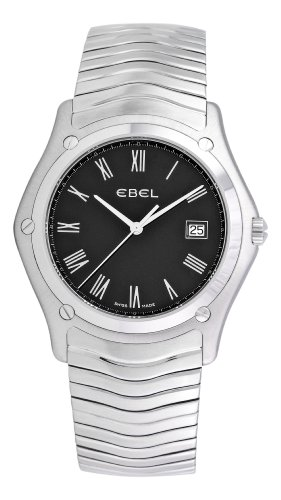 Ebel Men's 'Classic' Swiss Quartz Stainless Steel Casual Watch, Color:Silver-Toned (Model: 9255F51/5225)