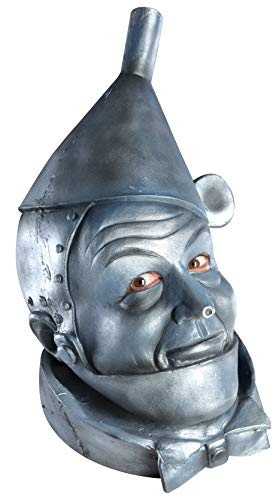 Wizard Of Oz Tin Man Costumes (Wizard of Oz Deluxe Latex Mask, Tin Man, Silver, One)