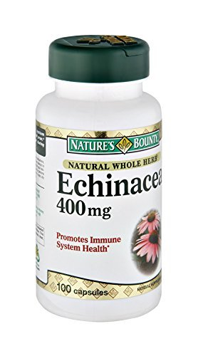 Nature's Bounty Natural Whole Herb Echinacea 400MG 100 Count by Echinacea 400 Mg Nutrition Herbs