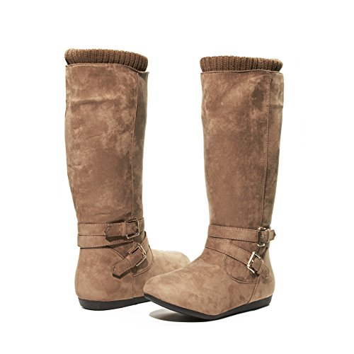 Girls Microsuede Winter Boots Size 1 with Buckle