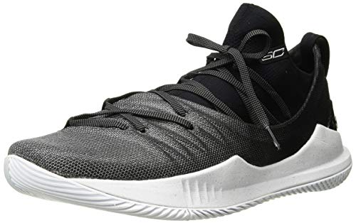 Under Armour Men's Curry 5 Basketball Shoe, White (101)/Black, 10.5 M US