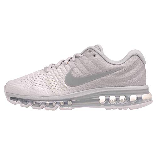 Nike Womens Air Max 2017 Low Top Lace Up Running Sneaker (10, Pure Platinum/Wolf Grey-White)