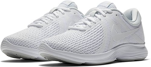 Nike Vrouwen Revolutie 4 Sportschoen Wit / Wit Zuiver Platina