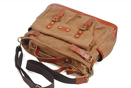 Oblique Leisure Canvas Bag Hand Multifunctional One Notebook Coffee For Macbook Shoulder Travel Nongniml Weekend Holiday Duffels Big Man Computer W7qw74R5
