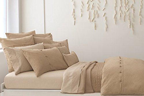 DKNY Pure Comfort Pleated Decorative Throw Pillow, Dune