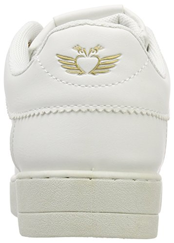 Metallic Fritzi Zapatillas aus Toe Ola Cap Mujer para Sneaker Blanco White Preußen nrpxgqr