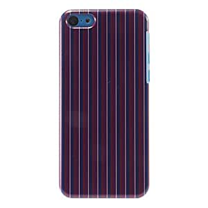 TOPMM Vertical Stripes Pattern Purple Hard Case for iPhone 5C