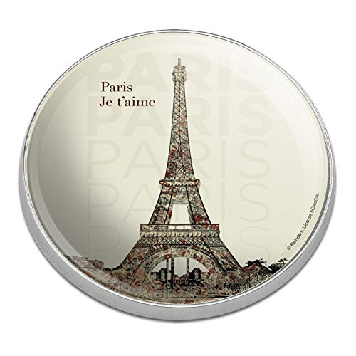 Graphics and More Paris, Je T'Aime I Love You Eiffel Tower City Map Golfing Premium Metal Golf Ball Marker