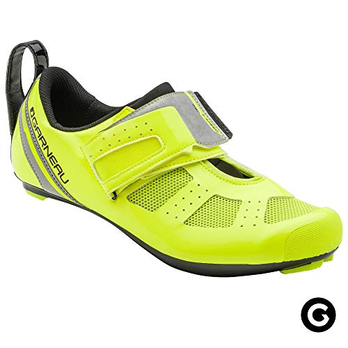 Triathlon Racing Bike - Louis Garneau Men's Tri X-Speed III Triathlon Cycling Shoes for Racing and Indoor Biking, Compatible with Major Road and SPD Pedals, Bright Yellow, US (10), EU (44)