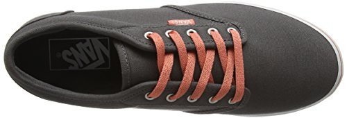 Vans Atwood Low, Zapatillas para Mujer Gris (CANVAS PEWTER/BURNT CORAL)