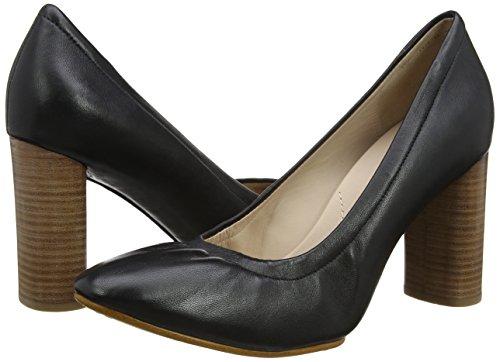 Clarks Leather black Mujer Zapatos Eva Grace De Tacón Para Negro OgwOF6Pnrx