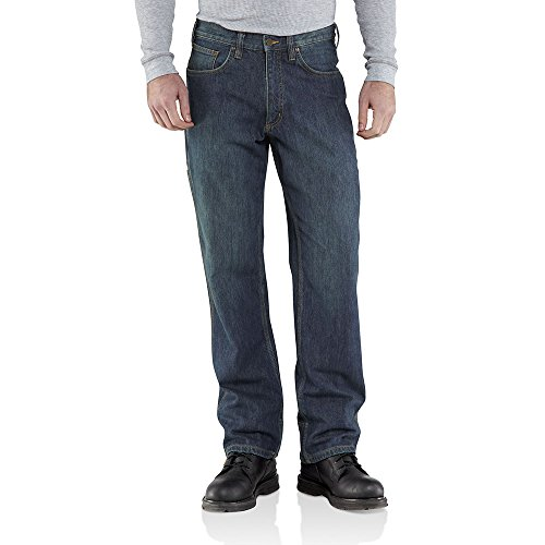 Bootcut Worn In Jeans (Carhartt Men's Relaxed Fit WorkFlex Linden Jean,Rustic Worn,31 x 32)