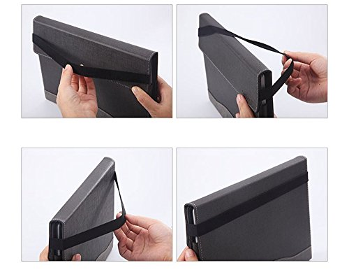 Heycase Surface Pro 2018/Surface Pro 6 / Pro 5 Case, Multi Angle Viewing Portfolio Business Case Cover Compatible for Microsoft Surface Pro 2017 /Pro 5/Pro 4/Pro 3 Type Cover Keyboard, Coffee