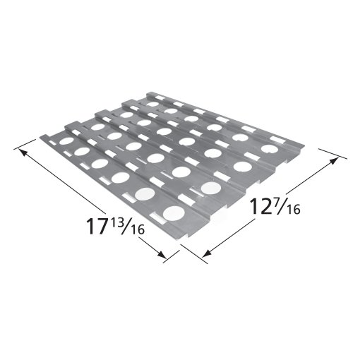 Music City Metals 92531 Stainless Steel Heat Plate Replacement for Select Alfresco Gas Grill -