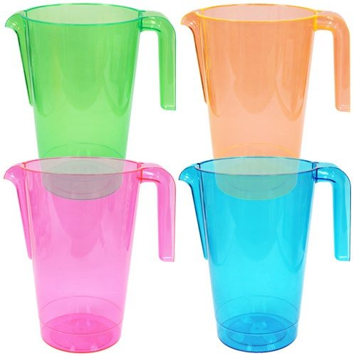 Price comparison product image Party Dimensions 36 Count Neons Plastic Pitchers,  50-Ounce